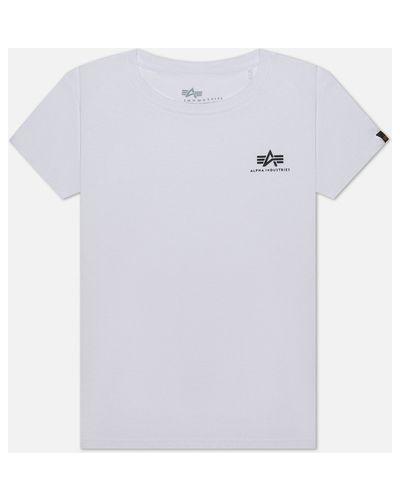 Базовая хлопковая белая футболка Alpha Industries