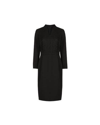 Черное платье для офиса из вискозы Vuall
