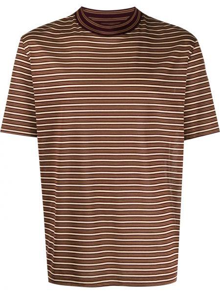 Koszula krótkie z krótkim rękawem prosto w paski Lanvin