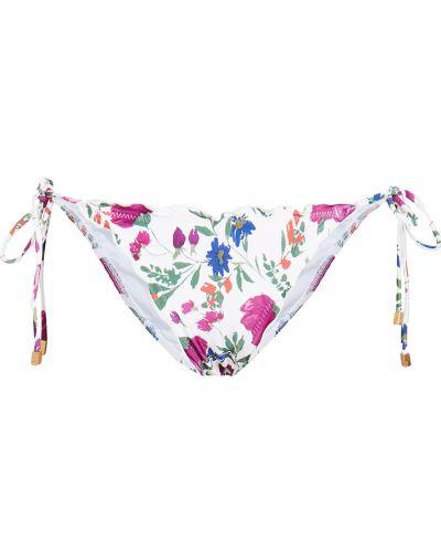 Бикини с подкладкой в цветочный принт с опушкой Vix Swimwear