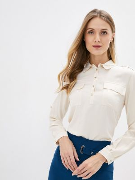 Блузка с длинным рукавом осенняя бежевый Adl