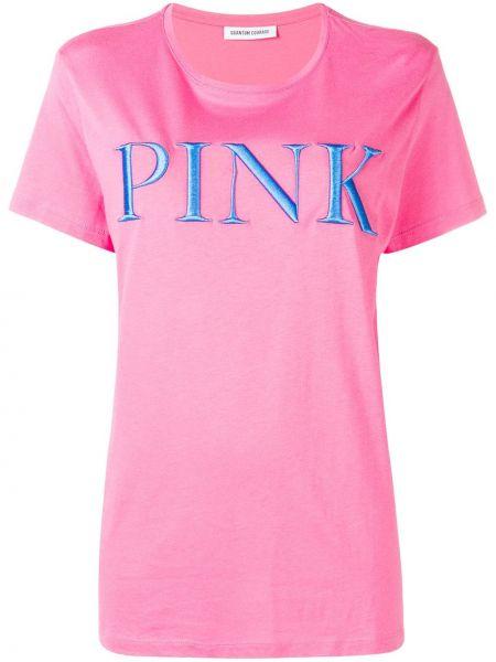 Футбольный розовый топ с вышивкой Quantum Courage