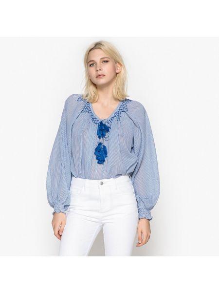 Блузка с длинным рукавом в полоску хлопковая Pepe Jeans