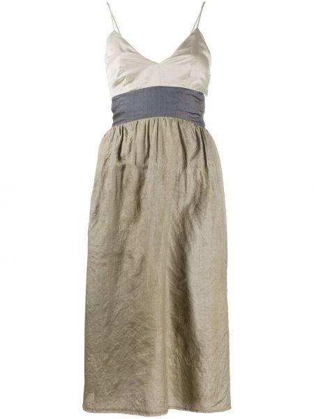 Платье миди на бретелях с V-образным вырезом Phaedo Studios
