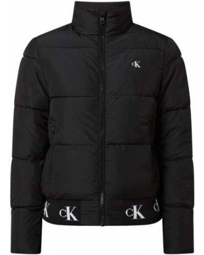 Czarna kurtka jeansowa ze stójką Calvin Klein Jeans