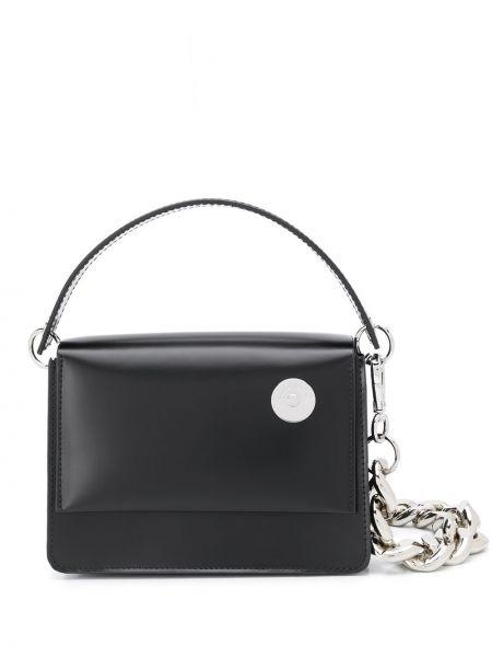 Черная сумка-тоут круглая Kara