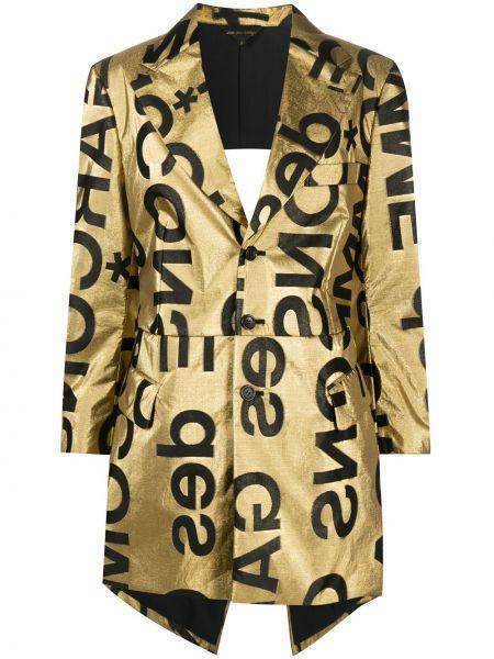 Шелковый желтый пиджак на пуговицах Comme Des Garçons