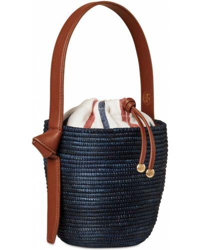 Кожаная сумка сумка-мешок из канваса Cesta Collective