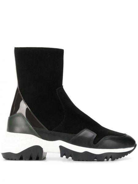 Черные высокие кроссовки со вставками A.f.vandevorst