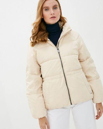 Бежевая теплая куртка B.young