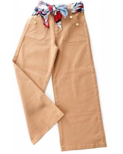 Satynowe beżowe spodnie casual Liu Jo