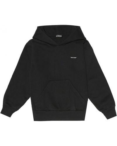 Markowe bawełna bawełna czarny bluza z kapturem Balenciaga Kids