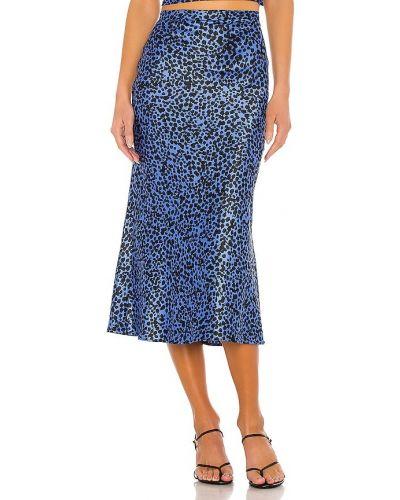 Сатиновая синяя юбка свободного кроя Flynn Skye