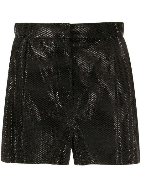 Однобортные черные шорты металлические Versace