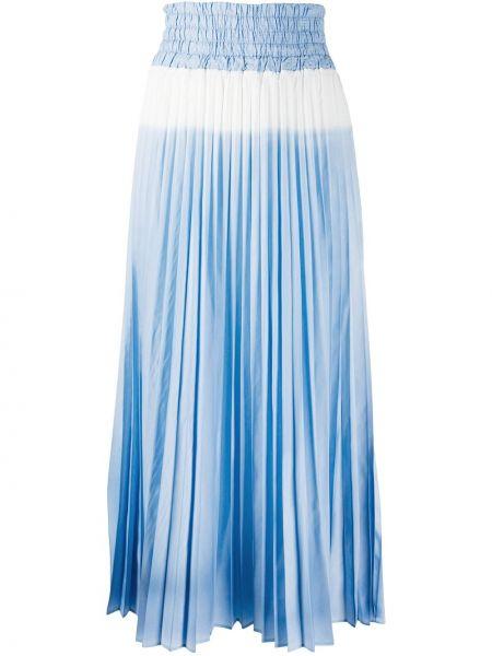 Хлопковая синяя с завышенной талией плиссированная юбка эластичная Mr & Mrs Italy