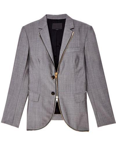 Пиджак серый шерстяной Alexander Wang