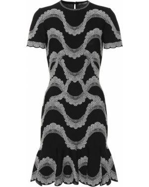 Вязаное платье мини Alexander Mcqueen