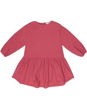 Sukienka różowy fuksja Brunello Cucinelli Kids