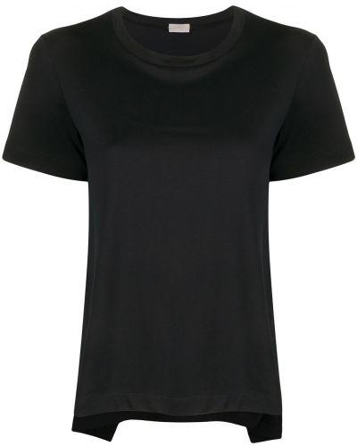 Хлопковая черная футболка с круглым вырезом с завязками Mrz