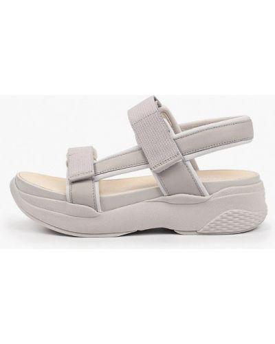Серые кожаные сандалии Vagabond