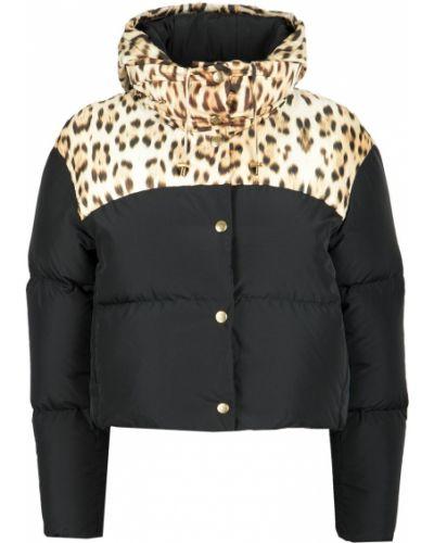 Куртка с капюшоном черная стеганая Roberto Cavalli