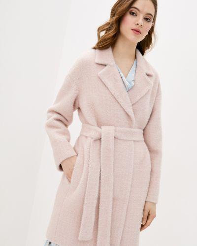 Пальто с поясом - розовое Danna