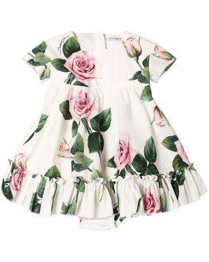 Sukienka z rękawem otwarty Dolce And Gabbana