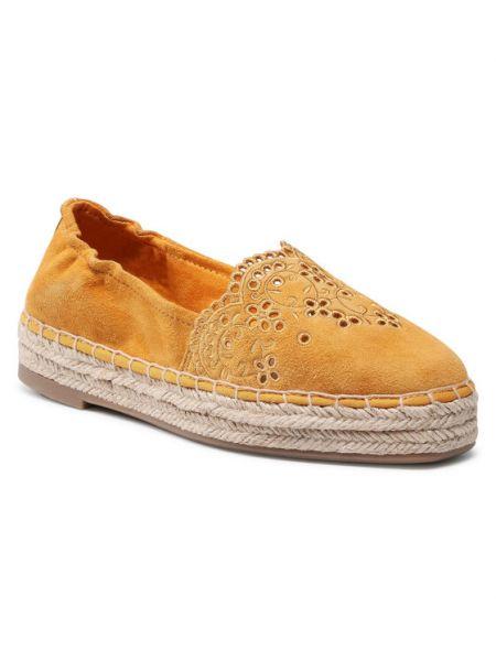 Espadryle - żółte Tamaris