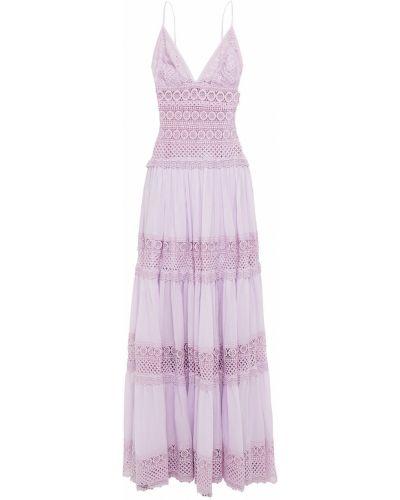 Sukienka długa koronkowa bawełniana sznurowana Charo Ruiz Ibiza