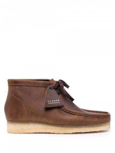 Коричневые резиновые ботинки Clarks Originals