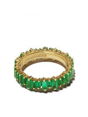 Золотой браслет золотой с изумрудом Suzanne Kalan