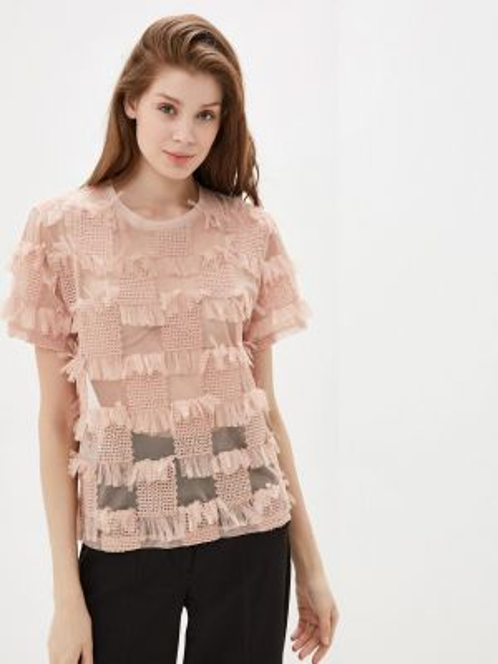 Блузка с коротким рукавом розовая весенний Imperial