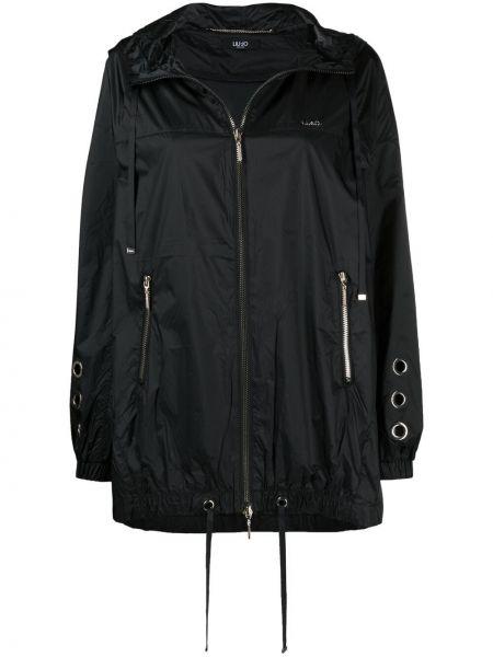 Черная куртка с капюшоном на молнии Liu Jo