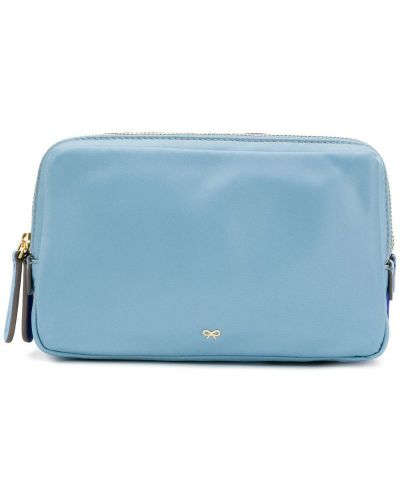 Синяя косметичка Anya Hindmarch