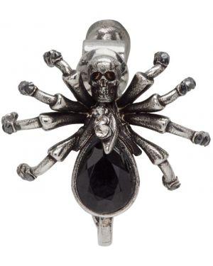 Серьги серебряные с черепами Alexander Mcqueen