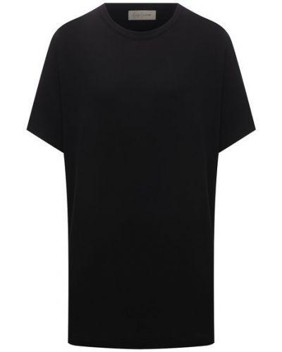 Хлопковая футболка - черная Yohji Yamamoto