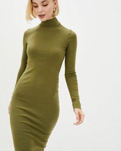 Прямое зеленое платье Promin