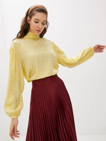 Желтая блузка с бантом Twist & Tango