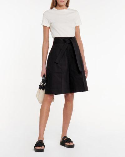 Ciepłe czarne szorty bawełniane Jil Sander