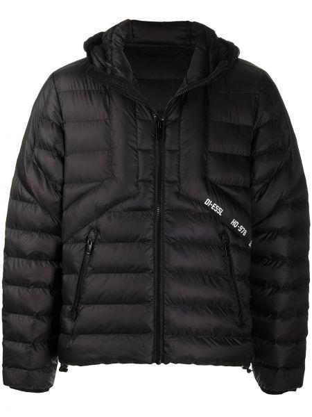Черная куртка с капюшоном на молнии Diesel