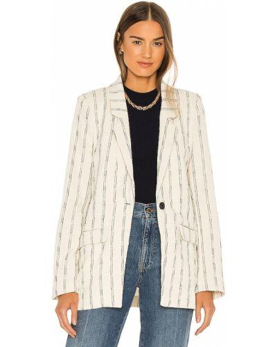 Теплый льняной белый пиджак Bardot