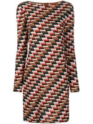 Прямое трикотажное платье макси с вырезом Missoni