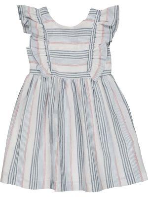 Хлопковое белое платье в полоску Tartine Et Chocolat