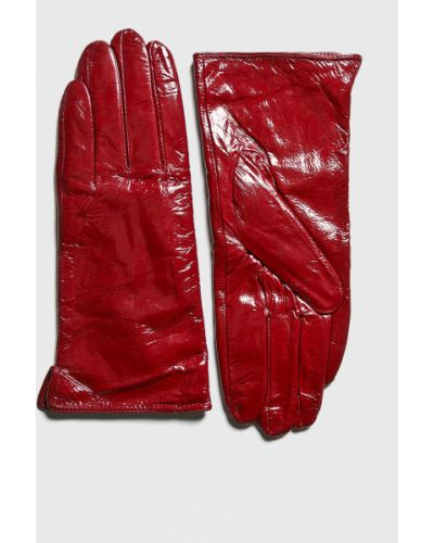 Красные кожаные перчатки Answear