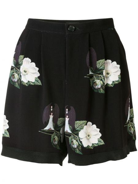 Черные шорты на молнии Undercover