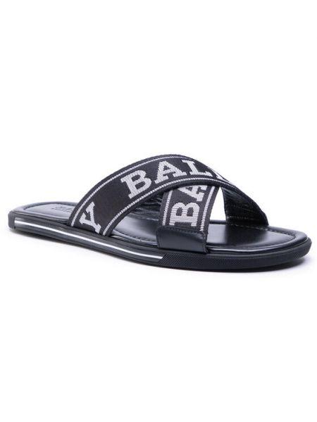 Czarne sandały Bally