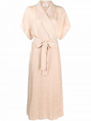 Платье миди с короткими рукавами - бежевое Barena