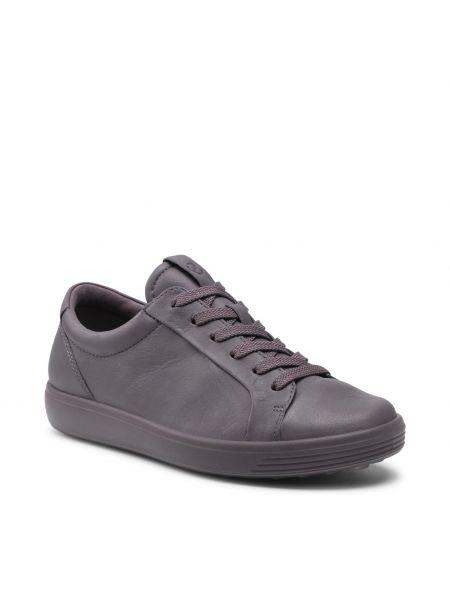 Buty sportowe skorzane - fioletowe Ecco