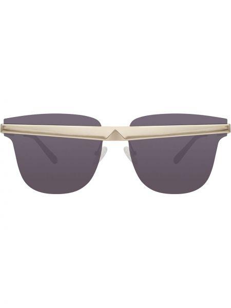 Солнцезащитные очки серебряный Linda Farrow