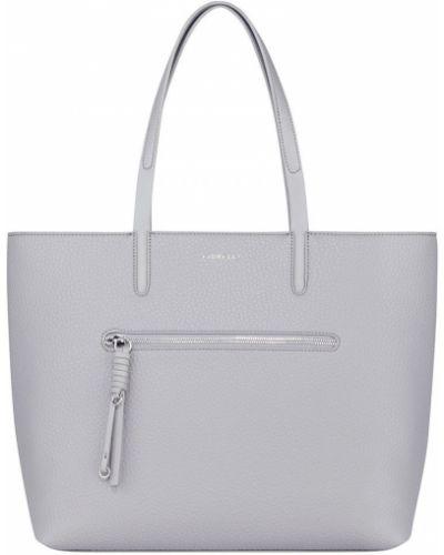 Кожаная сумка через плечо - серая Fiorelli